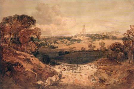 Joseph Mallord William Turner - Ansicht auf Fonthill vom Steinbruch