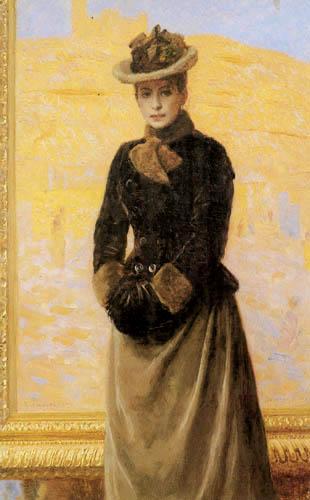 Laurits Tuxen - Ursule de Baisieux, die erste Frau des Künstlers