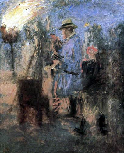 Laurits Tuxen - Krøyer painted a bonfire