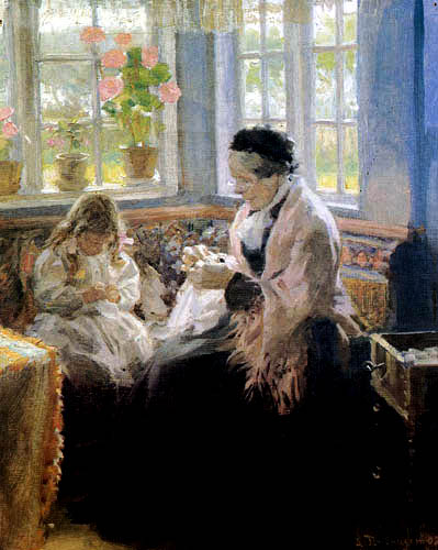 Laurits Tuxen - Bertha Tuxen et Nina