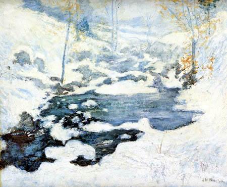 John Henry Twachtman - Snowmelt