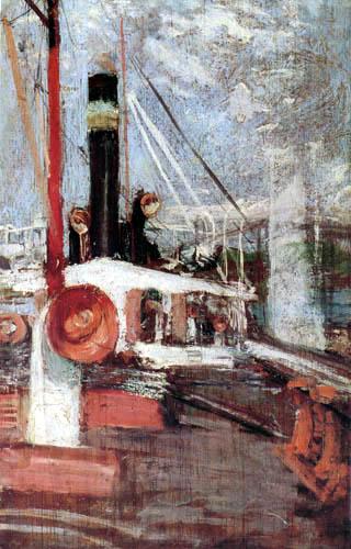 John Henry Twachtman - Aboard a Steamer
