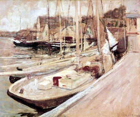 John Henry Twachtman - Bateaux de pêche à Gloucester