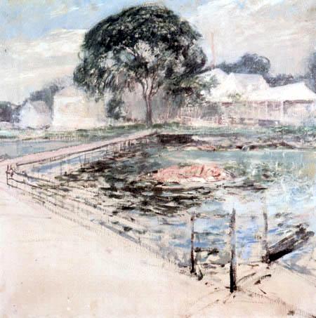 John Henry Twachtman - Harbor View Hotel