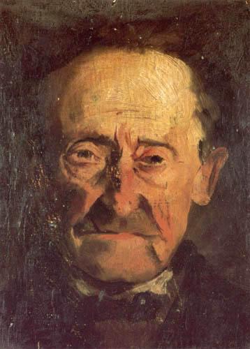 John Henry Twachtman - Head of a man
