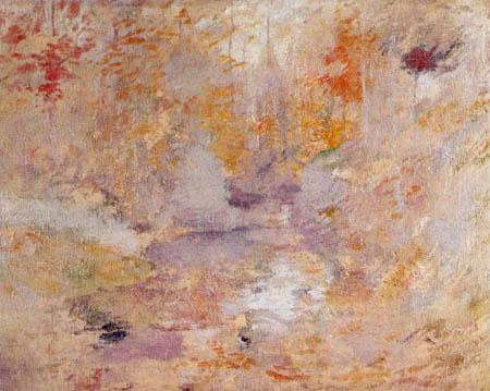 John Henry Twachtman - Hemlock Pool, Herbst