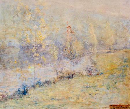 John Henry Twachtman - Misty may morn