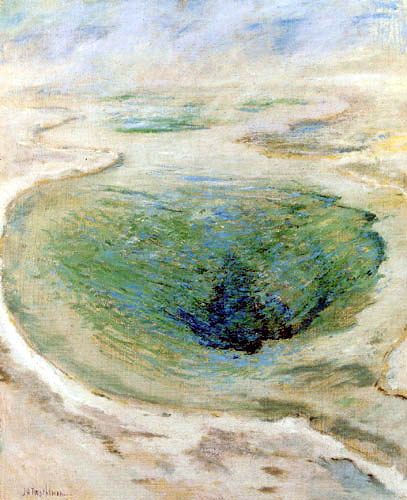 John Henry Twachtman - Morning Glory Pool, Yellowstone