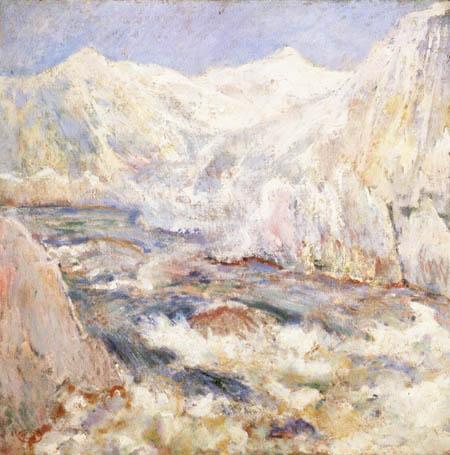 John Henry Twachtman - The Rapids, Yellowstone