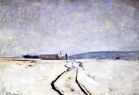 John Henry Twachtman - Along the River, Winter