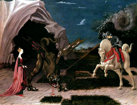 Paolo Uccello - Saint George slaying the dragon