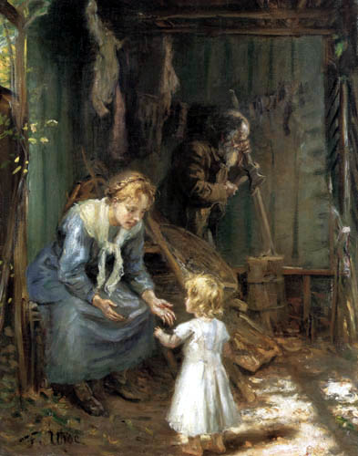 Fritz von Uhde - The holy family