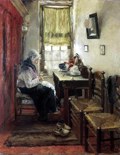 Fritz von Uhde - Im Alteleutehaus zu Zandvoort