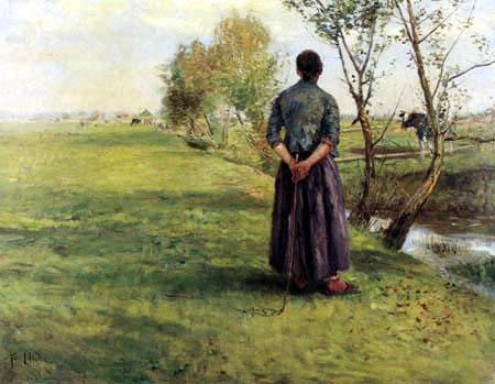 Fritz von Uhde - Im Herbst