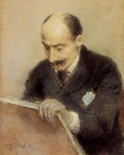 Fritz von Uhde - Portrait of Max Liebermann