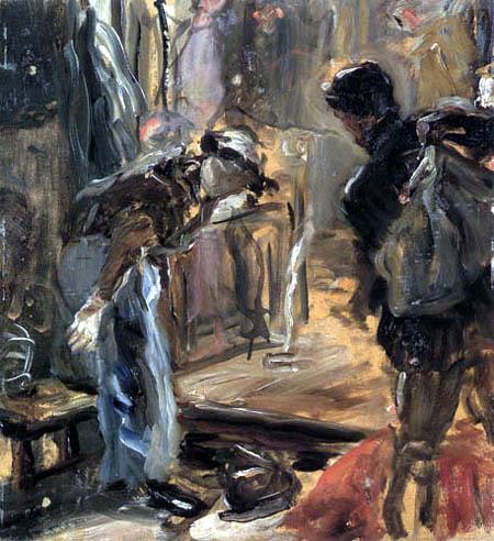 Fritz von Uhde - Im Atelier, Studie