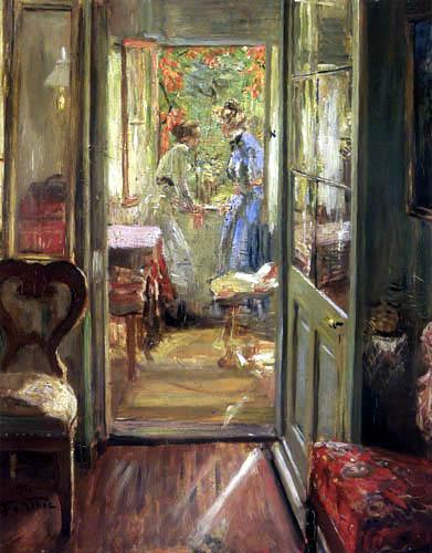 Fritz von Uhde - Girls on the Veranda