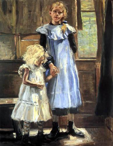 Fritz von Uhde - Two girls