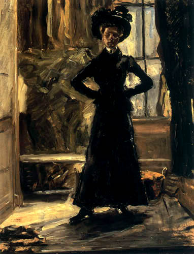 Fritz von Uhde - The daughter in a black costume