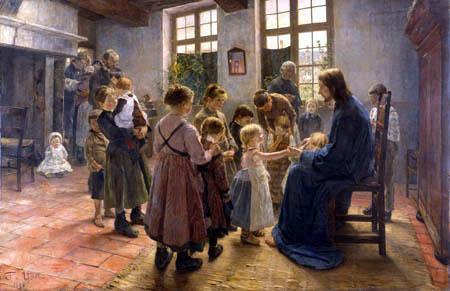 Fritz von Uhde - Lasset die Kindlein zu mir kommen