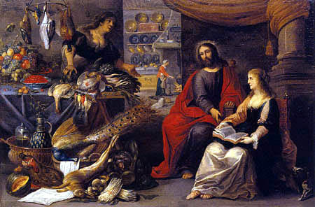 Adriaen van Utrecht - Christ in the house of Mary