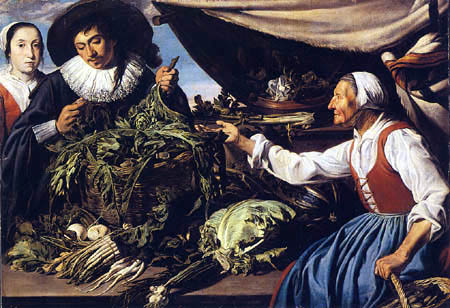 Adriaen van Utrecht - Vegetable saleswoman