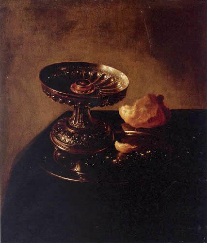 Jan Jansz. den Uyl - A goblet and bread