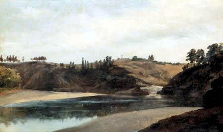 Pierre Henri de Valenciennes - River landscape, Bretagne