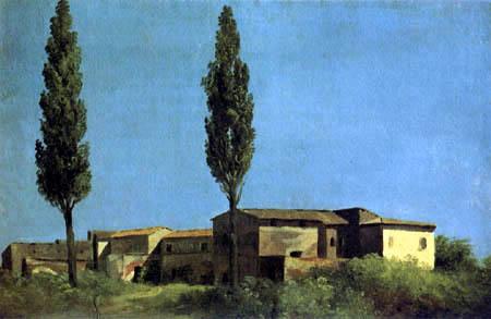 Pierre Henri de Valenciennes - Two Cypresses at the Villa Farnese