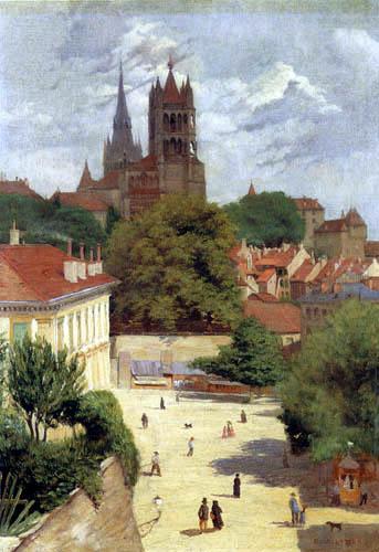 Félix Edouard Vallotton - Vue de Lausanne