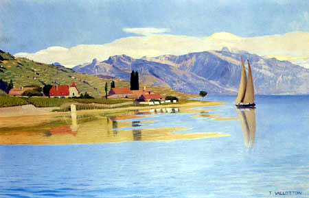 Félix Edouard Vallotton - The Harbor of Pully