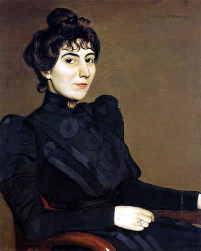 Félix Edouard Vallotton - The Actress Marthe Mellot