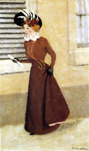 Félix Edouard Vallotton - Woman with feather hat