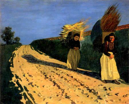 Félix Edouard Vallotton - Holztragende Frauen