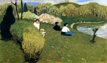 Félix Edouard Vallotton - Kinder am Teich