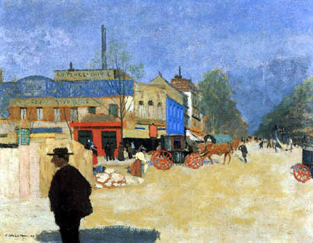 Félix Edouard Vallotton - Place Clichy, Paris