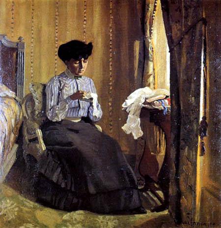 Félix Edouard Vallotton - Junge Näherin am Fenster