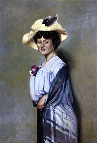 Félix Edouard Vallotton - An Englishwoman with hat