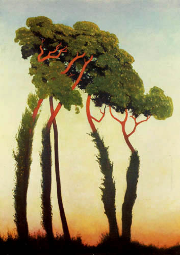 Félix Edouard Vallotton - Five Trees