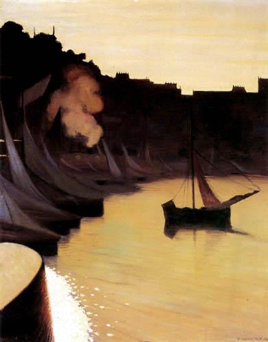 Félix Edouard Vallotton - The Harbor of Honfleur