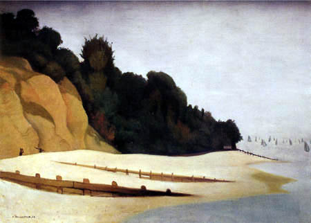 Félix Edouard Vallotton - Ufer mit Steilküste