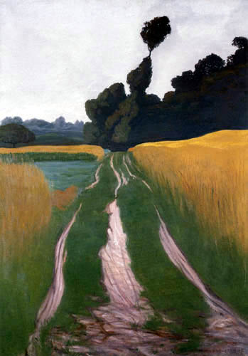 Félix Edouard Vallotton - Weg zwischen Feldern