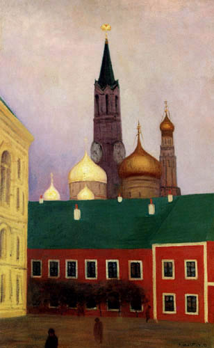 Félix Edouard Vallotton - View of the Kremlin in Moscow