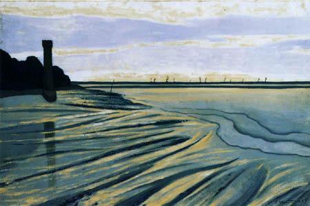 Félix Edouard Vallotton - Wattenmeer bei Honfleur
