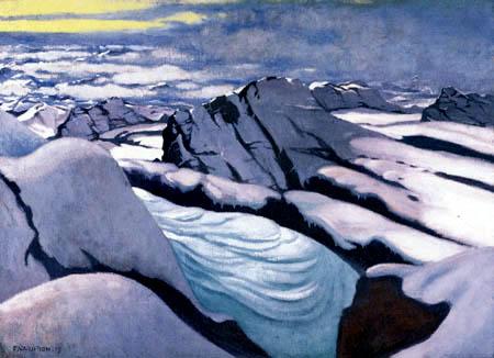 Félix Edouard Vallotton - Hochgebirge mit Gletscher