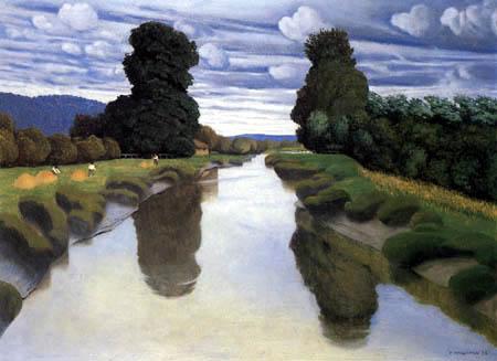Félix Edouard Vallotton - The Risle near Berville