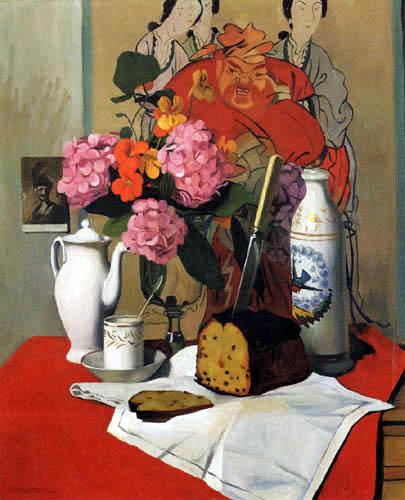 Félix Edouard Vallotton - Still life with coffee and cake