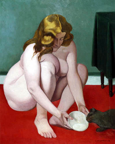 Félix Edouard Vallotton - Woman with cat