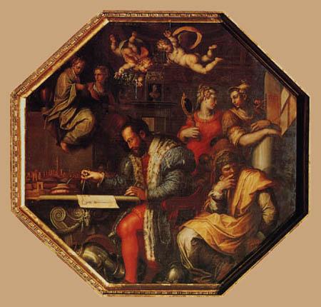 Giorgio Vasari - Cosimo I plans the war against Siena