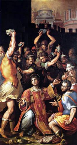 Giorgio Vasari - The stoning of St. Stephen